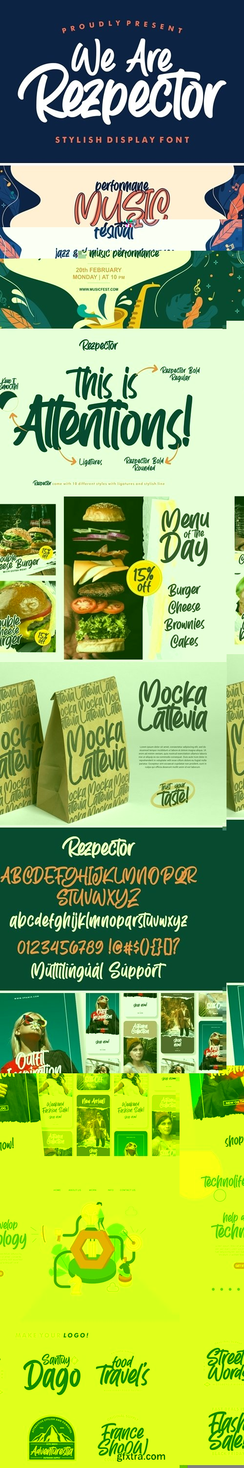 Fontbundles - Rezpector || Stylish Display Font 429898